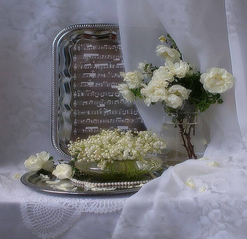 Romantic Flower Vase with Gift Notes